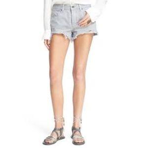 Free People Gray Denim Shorts Sz 25